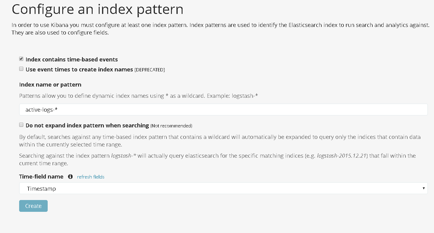 Kibana add index 3